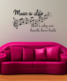 Music is Life, That's Why Our Hearts Have Beats Quote Vinyl Wall Decal - Decor Designs Decals My New Room, My Room, Good Music, My Music, Pink Music, Music Lyrics, Music Bedroom, Music Decor, Music Wall