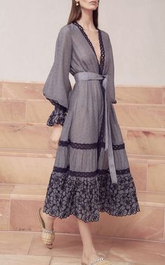 Theo Embroidered Midi Dress by ALEXIS for Preorder on Moda Operandi Dress Robes, Dress Skirt, Lace Dress, Wrap Dress, Dress Up, Trendy Dresses, Nice Dresses, Casual Dresses, Skirt Fashion
