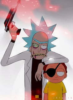 Evil Rick and Evil Morty Rick And Morty Time, Rick And Morty Quotes, Rick And Morty Poster, Trippy Wallpaper, Cartoon Wallpaper, Rick Und Morty Tattoo, Animes Wallpapers, Cute Wallpapers, Iphone Wallpaper Rick And Morty
