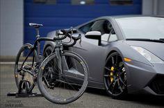 Lamborghini and Lambo bike, perfect match!