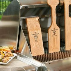 Customizable wooden grill scraper fits your grate perfectly and eliminates stray metal bristles in your food.