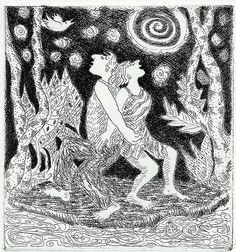 gail siptak.  dance, etching