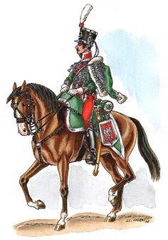 Maurice de Tascher sous-lieutenant au 8e régiment de hussards