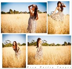 Senior picture inspiration for girls in nature - beautiful field and fun poses by TiffinyLamarre