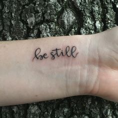 Psalm 46:10 - be still and know that I am God. #necktattoos