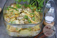 Ziemniaczana zapiekanka z kurczakiem i cytryną