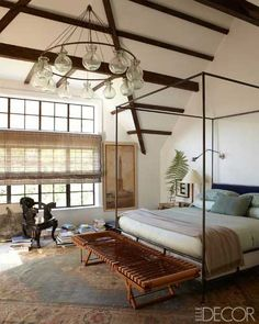 Tudor revival style bedroom
