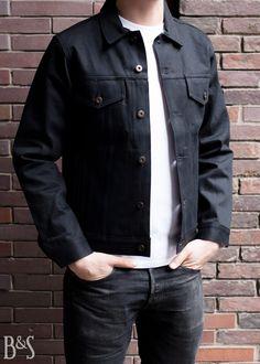 Denim Jacket Jean Black Selvedge