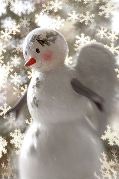 Each snow flake that falls is a laugh that the angels let out....