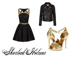 """Sherlock Holmes First date"" by blueribbonpony ❤ liked on Polyvore featuring Chi Chi, Vero Moda and Giuseppe Zanotti"
