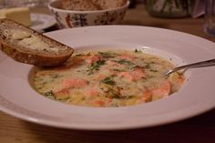 Once I have to try this one: The Norwegian Fish Soup. They say tat once you had a bowl you just have to take another one. :)