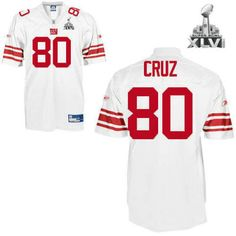 New York Giants 80 Victor Cruz White 2012 Super Bowl Jersey 21.99  Free  Shipping New f99d06cd5
