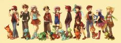Pokemon and Trainers via shion Pokemon Images, Pokemon Pictures, Red Wallpaper, Wallpaper Backgrounds, Pokemon Main Characters, Pokemon Especial, Trainer Games, Videogames, Fairies