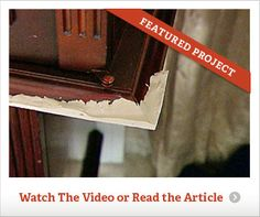 Link On How To Repair A Broken Or Chewed Table Corner