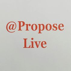 Propose Live.  The new place to share your joyous event.  First LIVE couple get…