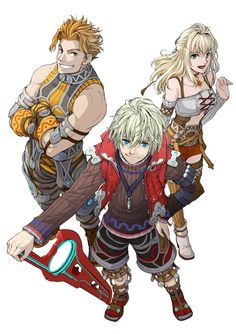 Xenoblade Chronicles - Reyn,Shulk and Fiora