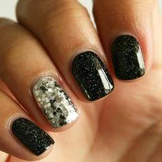 ongles décorés deco ongle gel, ongles noirs bien decores