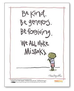 "Peter H. Reynolds' ""We All Make Mistaks Poster"" from FableVision Learning ... another classic PHR!"