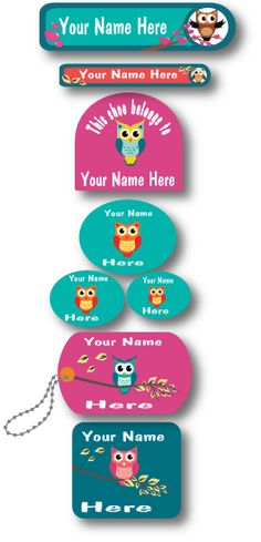 Lovable Labels review - personalized stickers for keeping track of your kids stuff with they go back to school!
