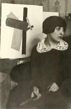 Varvara Stepanova in Moscow, 1916.