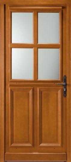 Porte bois, Porte entree, Belu0027m, Classique, Poignee plaque couleur - pose de seuil de porte