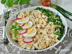 Ala piecze i gotuje: Sałatka z selera i jajek Pasta Salad, Cobb Salad, Grains, Impreza, Vegetables, Ethnic Recipes, Diet, Crab Pasta Salad, Vegetable Recipes