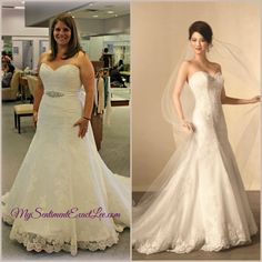 This is Michelle's story wearing Alfred Angelo dress #2438.