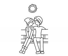 Cartoon, cute couple, and drawing image Cute Couple Quotes, Cute Couple Pictures Cartoon, Cute Couple Drawings, Cute Couples Cuddling, Cute Couples Texts, Cute Couples Goals, Cartoon Drawings Of People, Disney Drawings, Kawaii Drawings