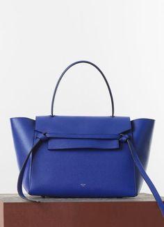 İste-Gelsin - Small Belt Bag in Indigo Drummed Calfskin  - Mavi