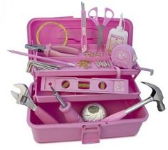 Pink tool box :) Kind of a must have product.