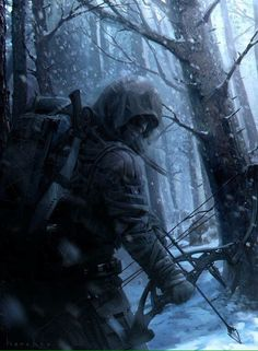 Whether you are a hunter or you are preparing for the apocalypse, it helps to have the best crossbow you can afford! Fantasy Warrior, Fantasy Art, Post Apocalyptic Art, Apocalypse Art, Environment Concept Art, Dystopia Rising, Military Art, Fantasy Characters, Character Art