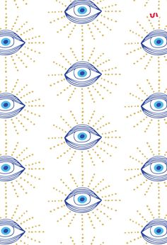 40 Evil Eye Illustrations PLUS 20 Evil Eye Seamless Patterns. The Evil Eye is a curse believed to be cast by a malevolent glare, usually given to a pe. Eyes Wallpaper, Trendy Wallpaper, Pattern Wallpaper, Iphone Wallpaper, Geometric Patterns, Textures Patterns, Print Patterns, Evil Eye Art, Realistic Eye Drawing