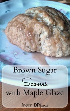 Brown Sugar Scones with Maple Glaze