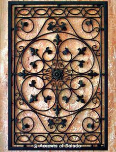 Tuscan Wrought Iron Wall Decor - perfect for above the tv ...