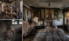 Family life frozen in time: Eerie images of the abandoned farm houses where even the beds are still made