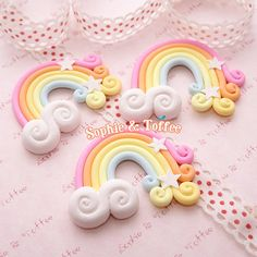 50mm Huge Magical Polymer Clay Rainbow with by SophieToffeeCo, $5.00