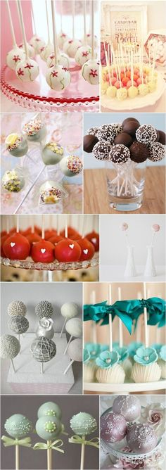 Lovely Cakepop Designs I just decided that I want cake pops instead of cake.partially because it'll keep us all from overeatingI just decided that I want cake pops instead of cake.partially because it'll keep us all from overeating Wedding Cake Pops, Wedding Cakes, Mini Cakes, Cupcake Cakes, Cake Pop Designs, Dessert Original, Snacks Für Party, Candy Buffet, Savoury Cake