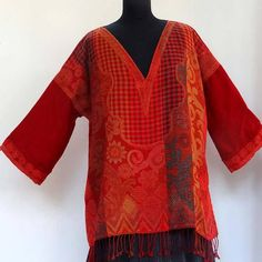 Hey, I found this really awesome Etsy listing at https://www.etsy.com/uk/listing/529978564/tunic-sweater-red-and-burgundy-pure-wool