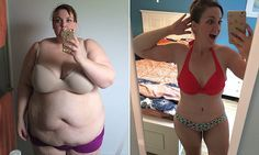 School teacher wears a bikini for the first time after losing 210lbs