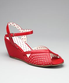 Every woman in her right mind should own this shoe and wear them to the grocery store, the gym, in the rain, etc.  Red Dennise Wedge Sandal