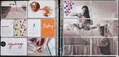 Project Life by Kelsey-I LOVE the large photo cut to fit across 1 whole page!