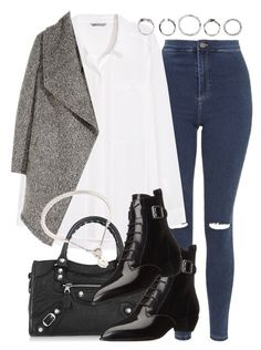 """""""Untitled #2044"""" by do-the-calder ❤ liked on Polyvore featuring Topshop, H&M, Balenciaga, Marc by Marc Jacobs and Cartier"""