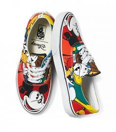 Vans x Disney Classic Mickey and Friends Sneakers