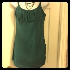 American eagle outfitters tank top#7 Olive green tank top one side gathered American Eagle Outfitters Tops Tank Tops
