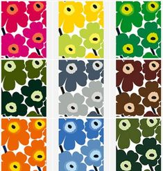 I have always loved this iconic Unikko fabric by Marimekko but only recently researched it as part of my studies. It was designed in 1964 b. Marimekko Wallpaper, Marimekko Fabric, Pattern Wallpaper, Fabric Design, Pattern Design, Cornhole Designs, Cute Baby Wallpaper, Japan Crafts, Arte Pop