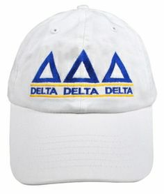 Delta Delta Delta Line Hat SALE $18.95. - Greek Clothing and Merchandise - Greek Gear®