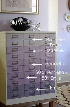 an ombré file cabinet by @ciburbanity w/ the help of @anniesloanhome #chalkpaint Sooo ready to give that paint a run for its money... well, a run for my money!