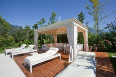 Exterior design Ideas For Modern Gazebo Gazebo Plans, Outdoor Gazebos, Backyard Gazebo, Garden Gazebo, Outdoor Rooms, Outdoor Living, Gazebo Ideas, Diy Pergola, Pergola Kits
