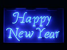 happy new year neon sign for hire