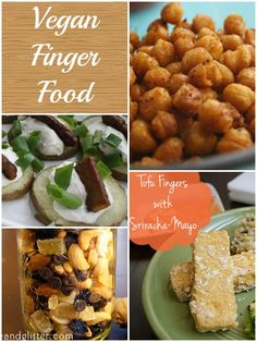 Tons of vegan Superbowl party food recipes! http://www.glueandglitter.com/main/2014/01/28/super-bowl-party-food/